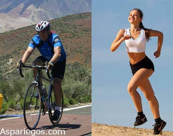 ¿Correr o hacer bicicleta?