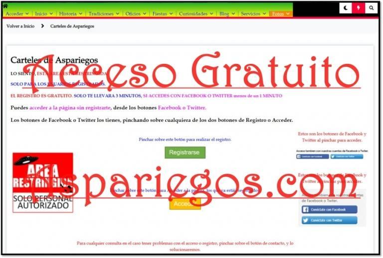 Acceder Aspariegos.com